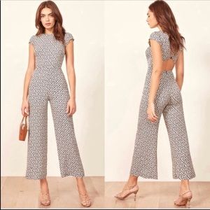 NWT reformation Mayer floral open back jumpsuit
